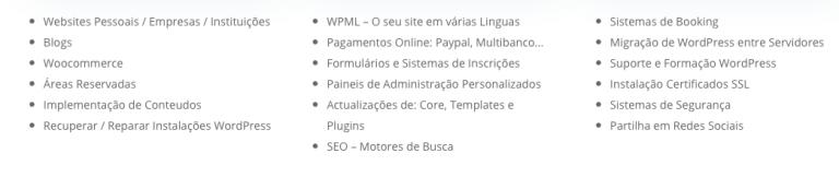 portfolio 3/5  - competências em WordPress
