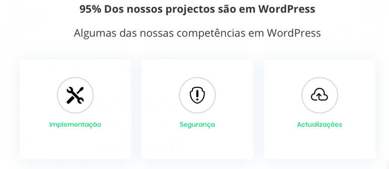 portfolio 2/5  - Serviços WordPress