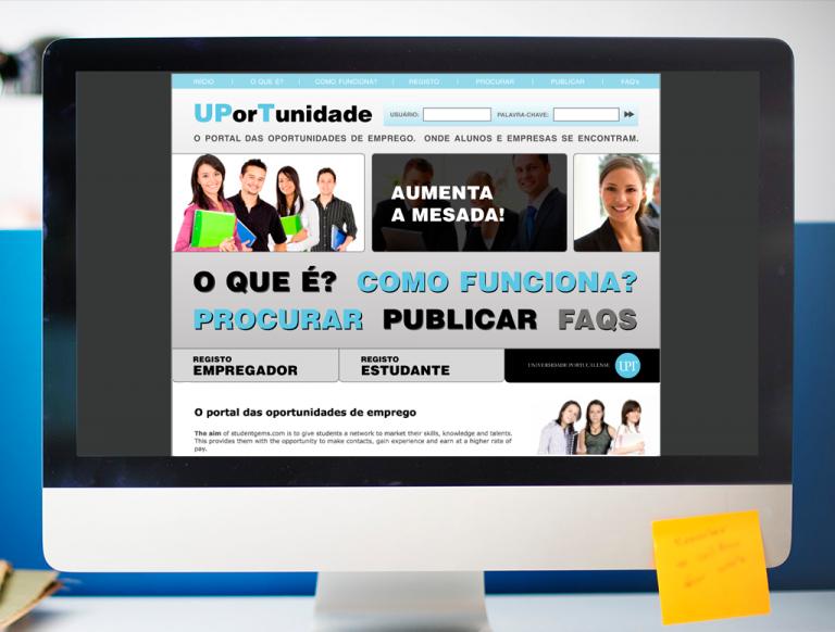 portfolio 15/19  - Microsite UPorTunidades