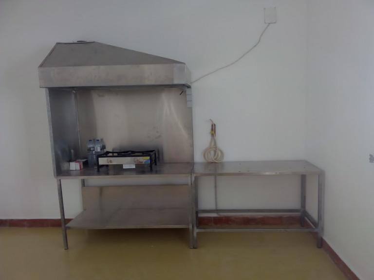 portfolio 37/46  - bancada e chaminé de trabalho ( frituras )