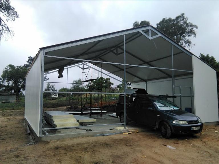portfolio 25/46  - pavilhao 100 m2 chapa térmica construçao