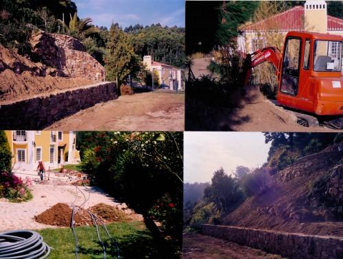 portfolio 49/51  - Preparação  de  terrenos,  muros  de  suporte  em  pedra,  electrificação  de  jardins