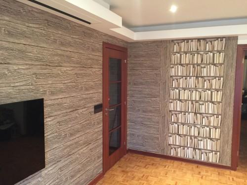 portfolio 57/77  - Papel de parede colocado na horizontal e também na vertical