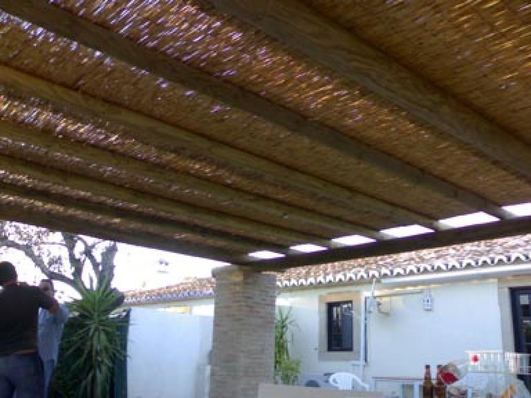 portfolio 40/65  - Construção de pergulas em madeira