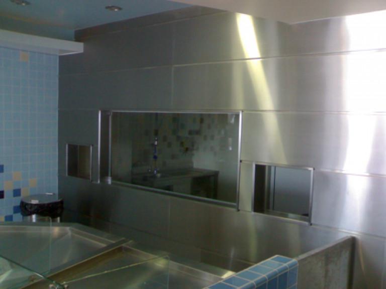portfolio 28/65  - Trabalhos com INOX loja de peixe