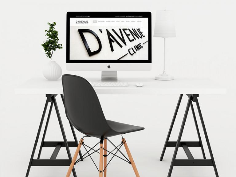 portfolio 1/10  - Web Site   D'Avenue Clinic