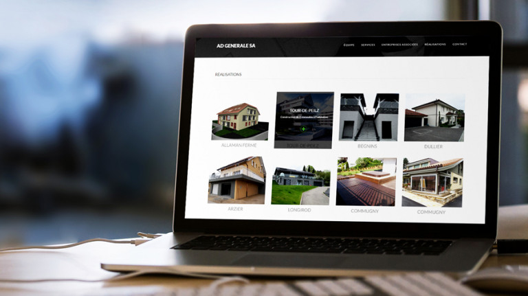portfolio 2/10  - Web Site    AD Entreprise Générale SA