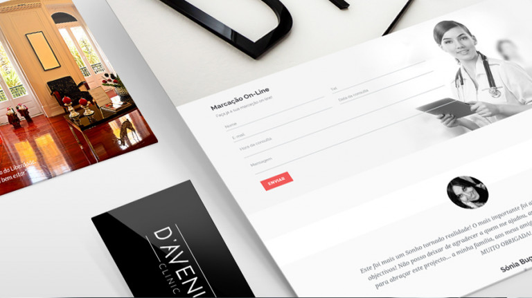 portfolio 3/10  - Web Site   D'Avenue Clinic