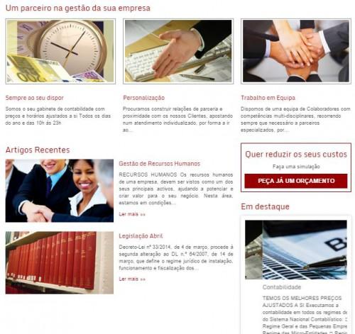 portfolio 4/5  - Páginas de serviços e bloggs