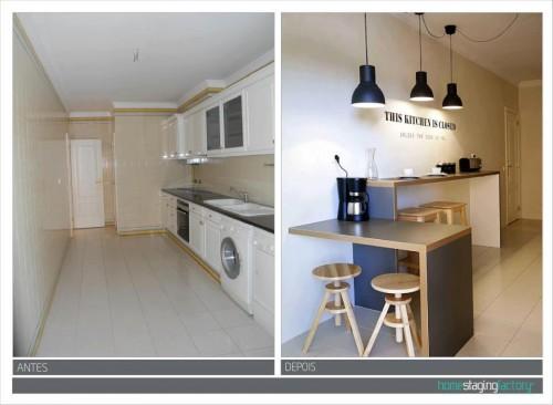 portfolio 15/37  - Decoração Total Apartamento turístico  - Antes & Depois