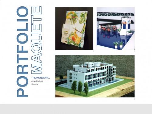 portfolio 1/9  - Maquete física tridimensional