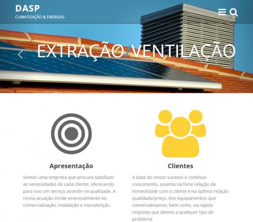 portfolio 6/6  - DASP Energias - Website