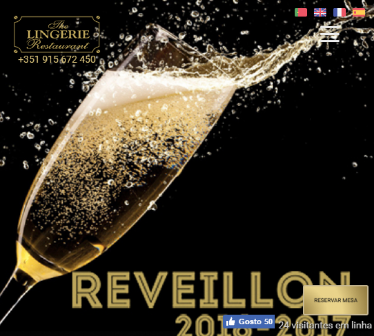 portfolio 2/6  - The Lingerie Restaurant - Website