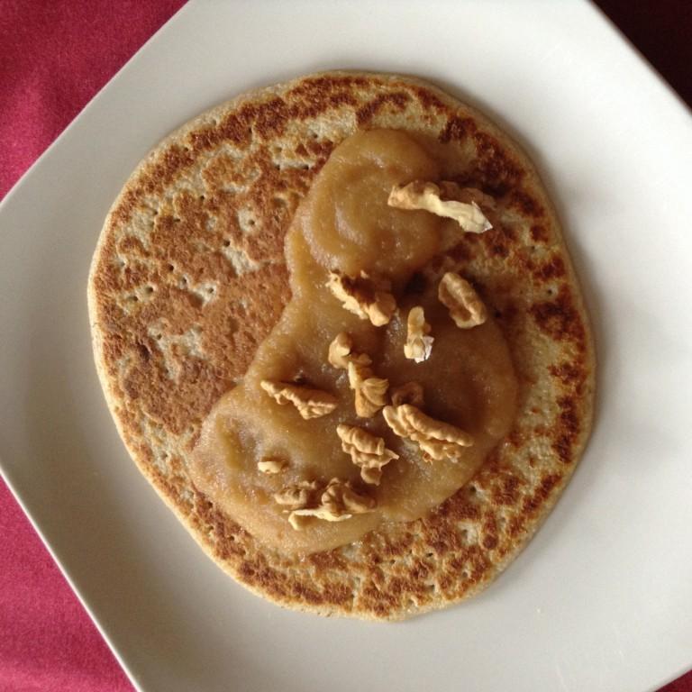 portfolio 38/65  - Crepe de aveia com purê de maçã sem açúcar