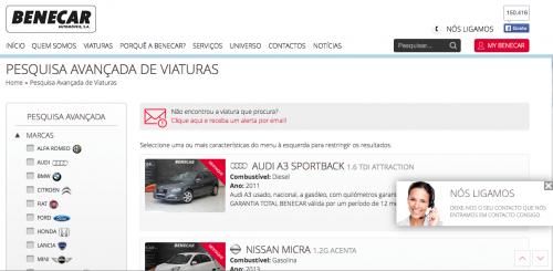 portfolio 2/5  - Co-participação no desenvolvimento do site da benecar / versão mobile