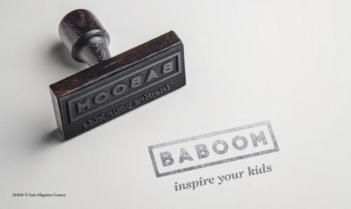 portfolio 3/8  - BABOOM - Marca (Logótipo) - Aplicação Carimbo