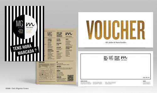portfolio 1/8  - MG MR - Materiais Promocionais (flyer - voucher - Letreiro de fachada)