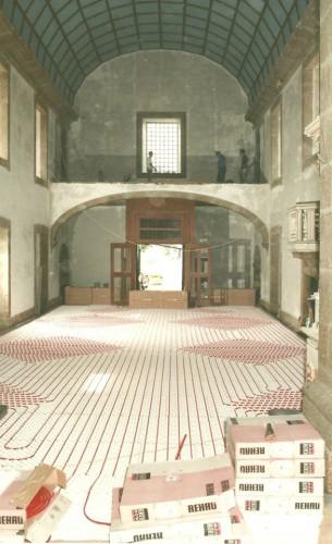 portfolio 131/163  - Piso radiante hidráulico- Mosteiro de Vilela