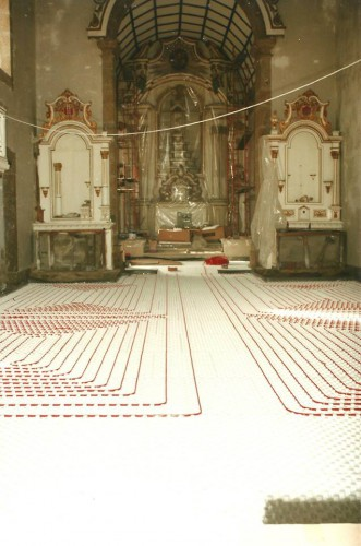 portfolio 130/163  - Piso radiante hidráulico- Mosteiro de Vilela