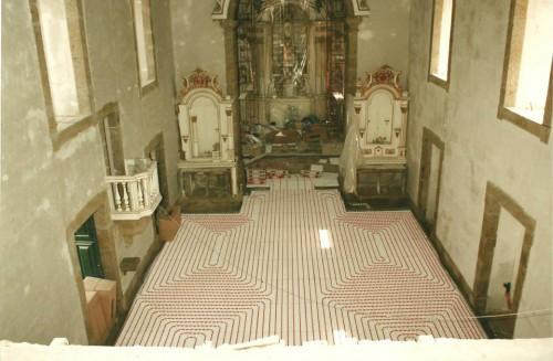 portfolio 129/163  - Piso radiante hidráulico- Mosteiro de Vilela