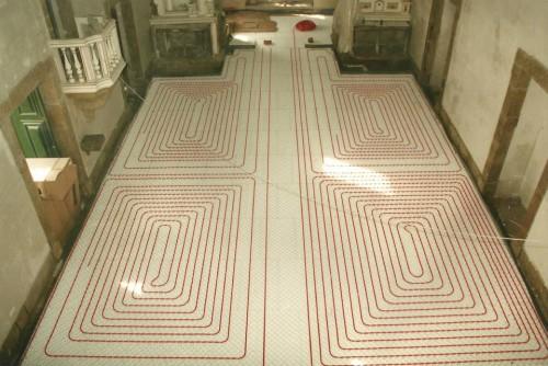 portfolio 121/163  - Piso radiante hidráulico- Mosteiro de Vilela