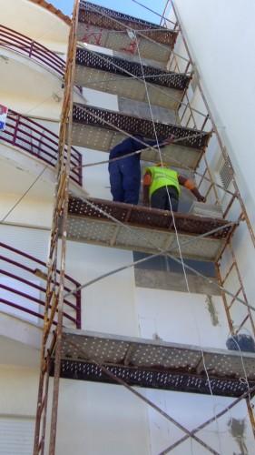 portfolio 5/15  - Aplicação do sistema capoto onde existia azulejo e pintura exterior do edificio