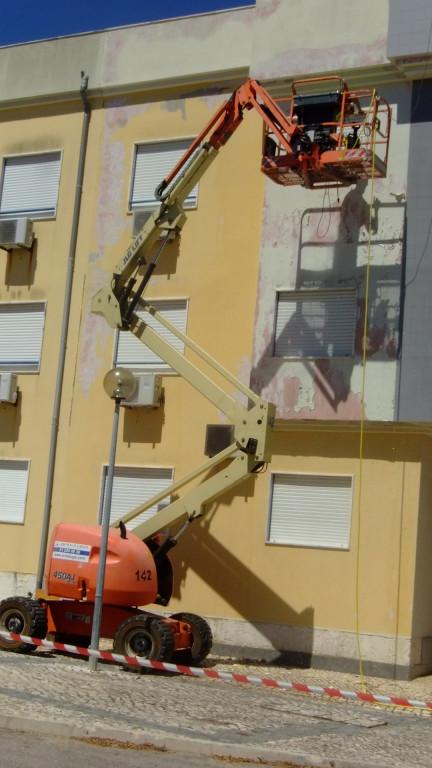 portfolio 4/15  - lavagem da fachada com plataforma elevatória