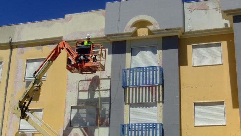 portfolio 3/15  - continuação da lavagem da fachada