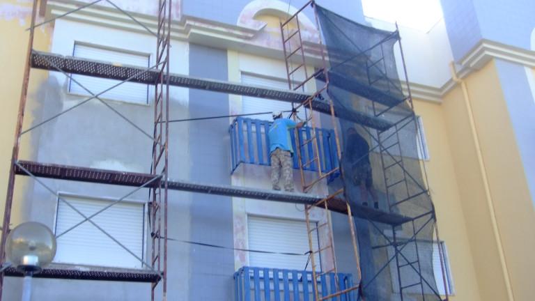 portfolio 2/15  - reparação da fachada com argamassa fibrada