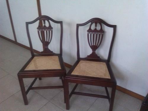 portfolio 38/46  - Mais um trabalho feito, restauro palhinha em cadeiras, para Dª Margarida Porto