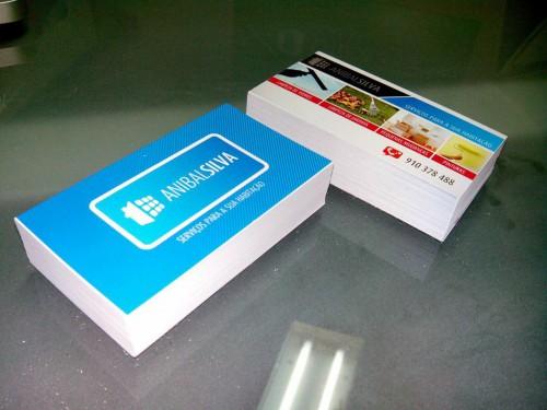 portfolio 21/21  - Cartões de visita impressos em duas faces