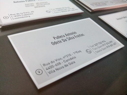 portfolio 15/21  - Cartões de visita impressos em duas faces