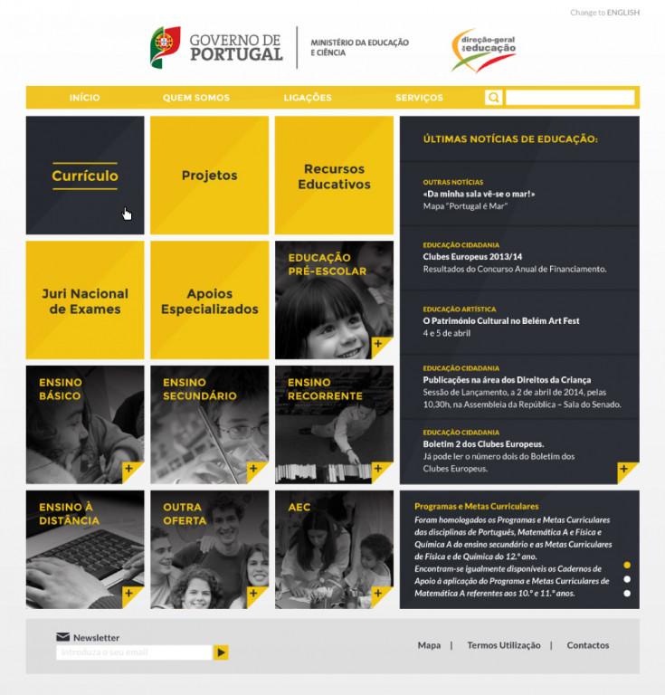 portfolio 1/9  - proposta redesign dge.mec.pt