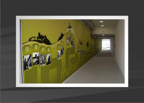 portfolio 34/53  - Projecto decoração de corredor de acesso