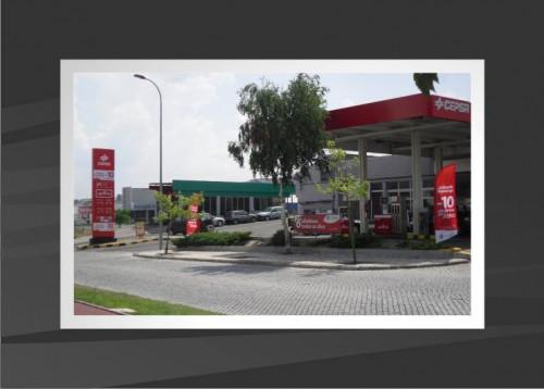 portfolio 10/53  - decoração exterior de posto de combustível