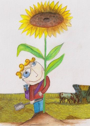 portfolio 7/9  - ilustração para livro: artistas com história- Vicent Van gogh