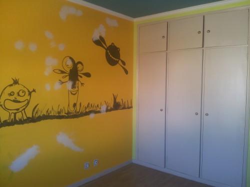 portfolio 157/236  - pintura de paredes ( parede antes de ser pintada )