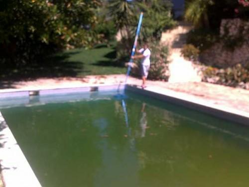 portfolio 7/38  - Recuperação de piscinas verdes sem estragar agua!!!