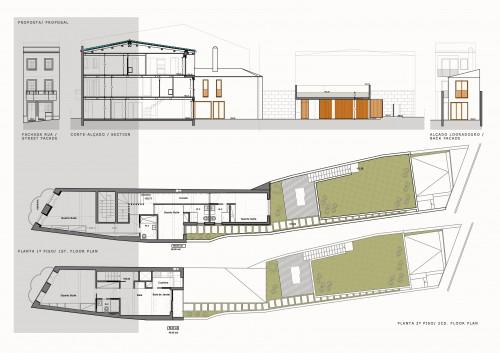 portfolio 10/16  - Casa Braga - Centro Histórico - Reabilitação Sustentável - Fase: Estudo Prévio