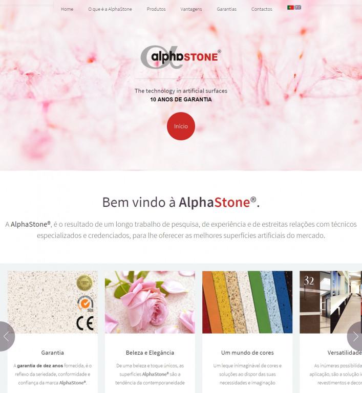 portfolio 3/4  - Apresentação mundial da marca Alphastone. Prestigiadas superfícies e revestimentos em quartzo.