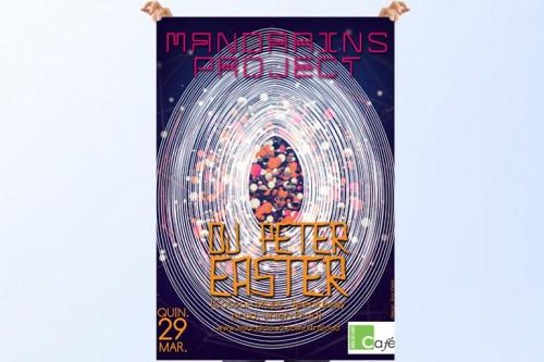 """portfolio 5/6  - Cartaz Evento """"Mandarins Project"""""""
