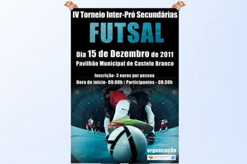portfolio 4/6  - Cartaz Torneio de Futsal