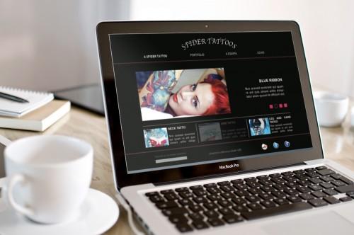 portfolio 2/10  - projeto website & design Spider Tatoos