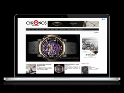 portfolio 9/10  - Website Chronos do Tempo