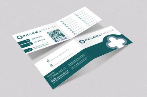portfolio 11/34  - Criação de cartão de marcação de tratamentos para a Pharmaestetic