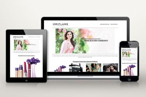 portfolio 10/34  - Criação de Mini Site para a Oriflame