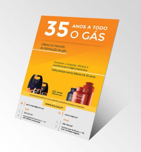portfolio 9/34  - Criação de flyer para divulgação de serviço de gás
