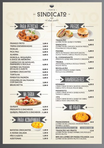 portfolio 5/34  - Criação de menú para restaurante de tapas