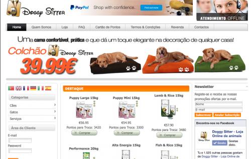 portfolio 2/2  - DoggySitter - http://www.doggysitter.pt