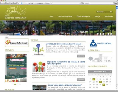 portfolio 7/7  - website União das Freguesias de Massama e Monte Abraão: www.uf-massamamabraao.pt